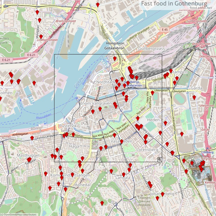 Snabbmat Goteborg Karta