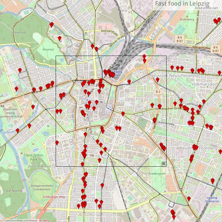 Fast food Leipzig Map